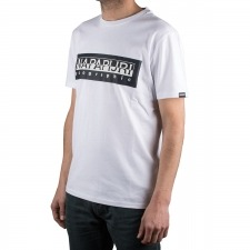 Napapijri camiseta Sele Briht White Blanco Hombre