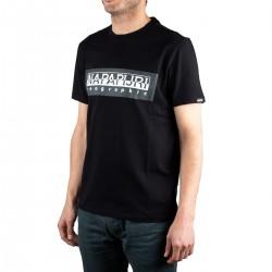 Napapijri camiseta Sele Black Negro Hombre