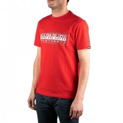 Napapijri camiseta Sele Cherry Red Rojo Hombre