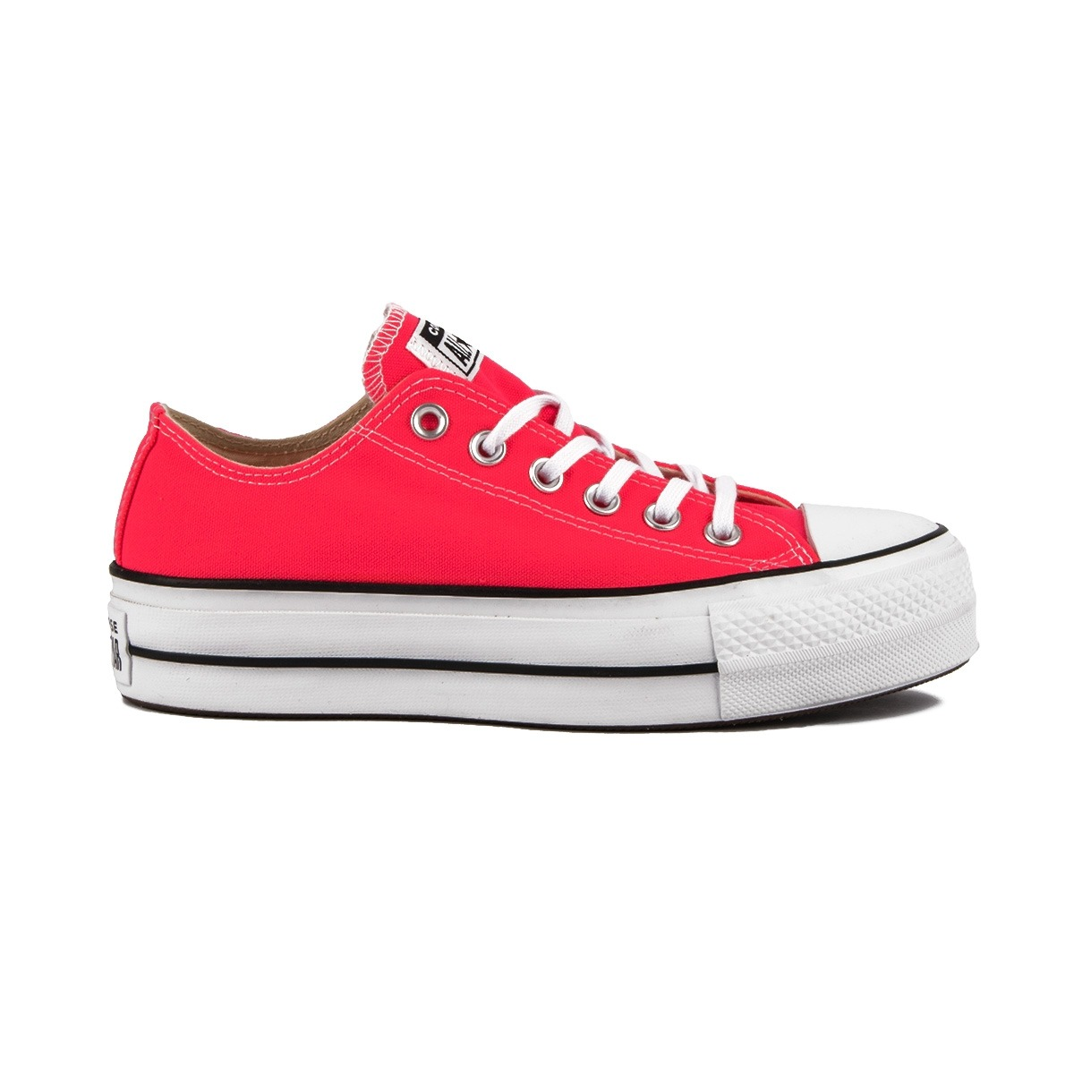 Converse Chuck Taylor All Star Clean Lift Low Top Plataforma Racer Pink Rosa Fluor Mujer