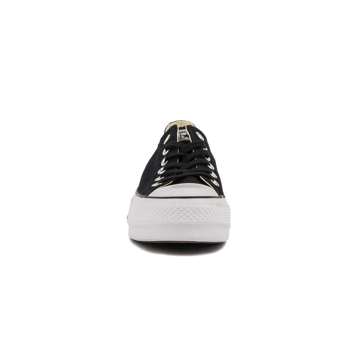 Converse Chuck Taylor All Star Lift Canvas Low Top Plataforma Black Negro Mujer