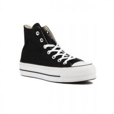 Converse Botín Chuck Taylor All Star Lift High Top Plataforma Black Negro Mujer