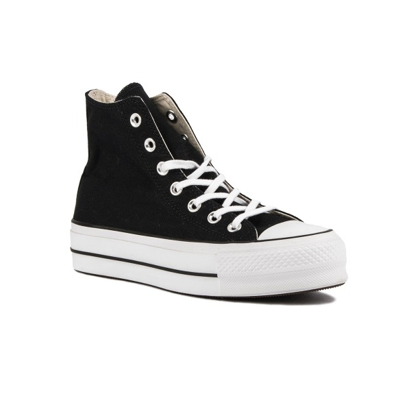 11555d6e Converse Botín Chuck Taylor All Star Lift High Top Plataforma Black Negro  Mujer