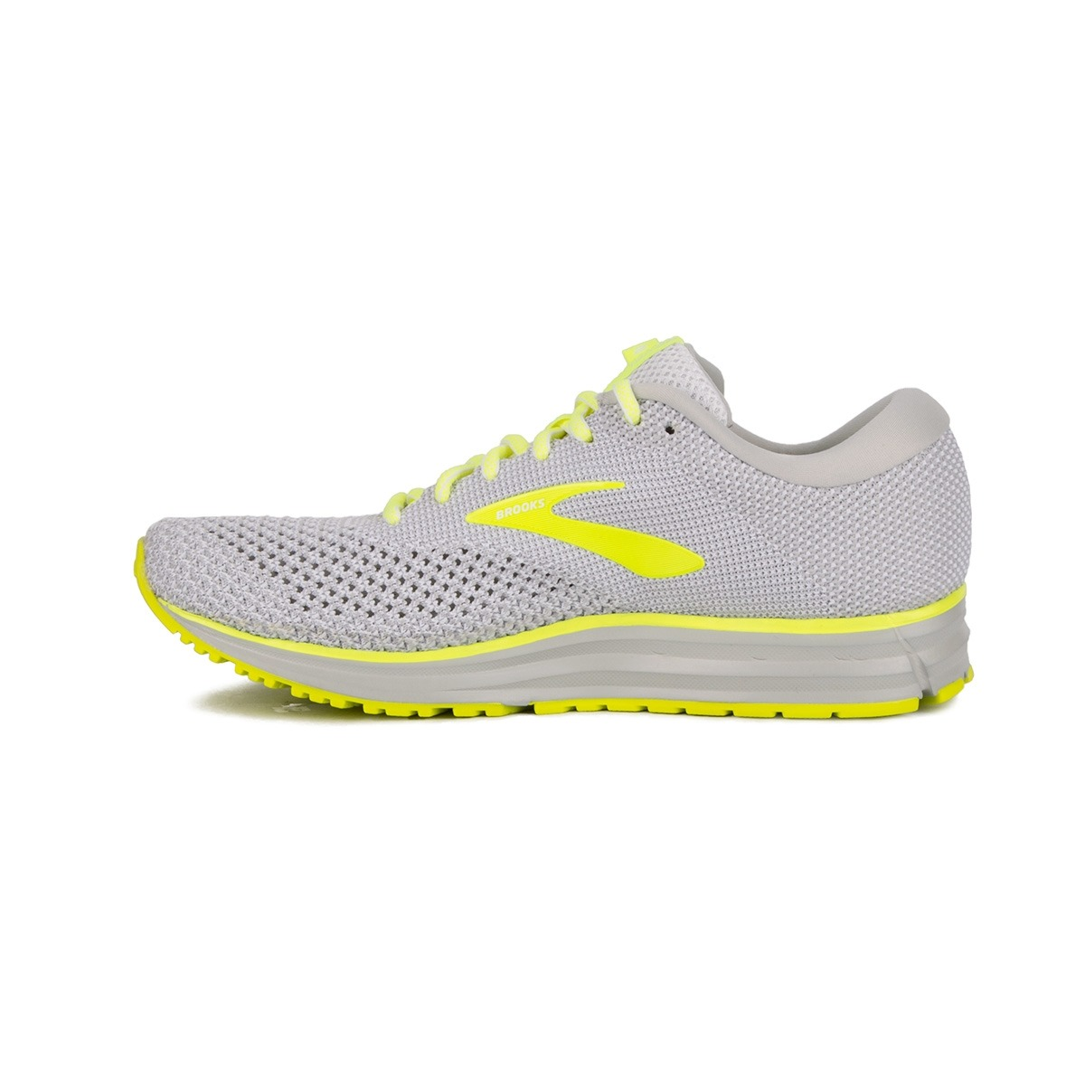 Brooks Revel 2 Grey Black Nightlife Gris Amarillo Fluor Hombre