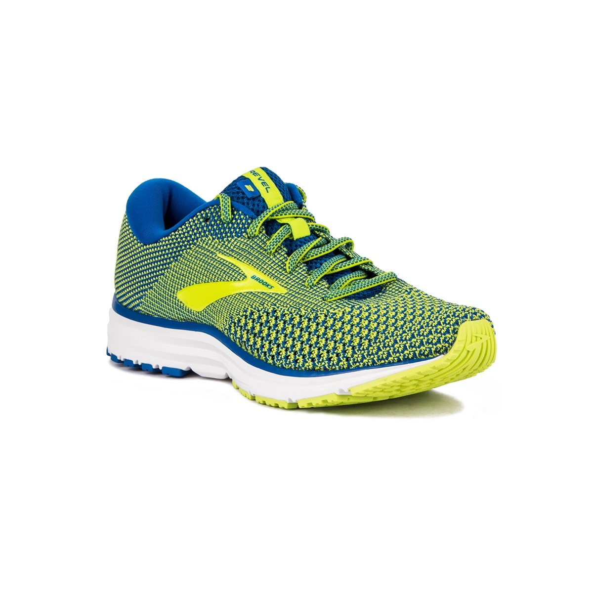 Brooks Revel 2 Blue Lime White Azul Lima Hombre