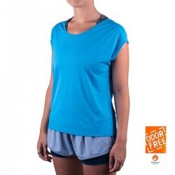 Salomon camiseta Comet Flow Tee W azul mujer