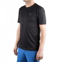 Salomon camiseta Agile Classic Tee M Negro Hombre
