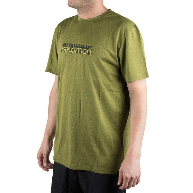 Salomon camiseta Agile Graphic Tee M Verde Hombre