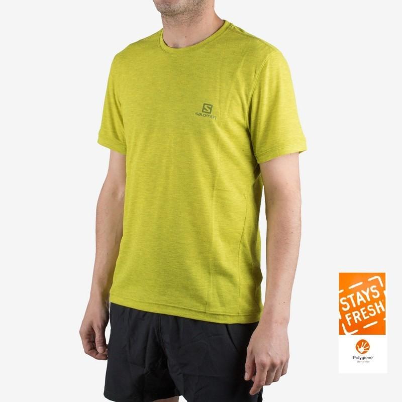 Salomon camiseta Explore SS Tee M Verde Hombre