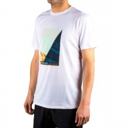 Salomon camiseta Agile Graphic Tee M Blanco Mont Blanc Hombre