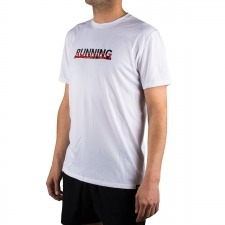 Salomon camiseta Agile Graphic Tee M Blanco Running Hombre