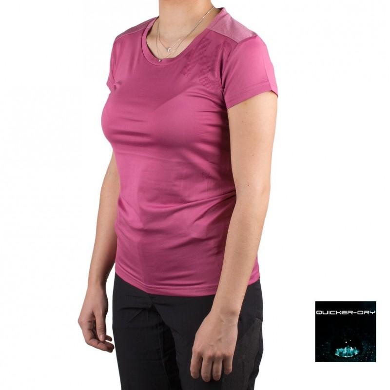 +8000 Camiseta Antlia 19V Vino Rosado Mujer