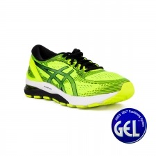 Asics Gel Nimbus 21 Safety Yellow Black Verde Pistacho Negro Hombre