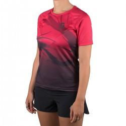 Scott Camiseta Manga Corta Kinabalu Run Magenta Negra Mujer