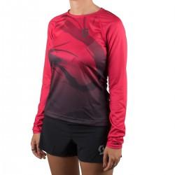 Scott Camiseta Manga Larga Kinabalu Run Magenta Negra Mujer