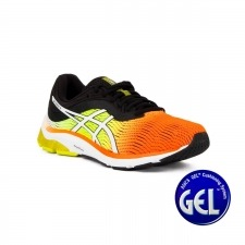 Asics Gel Pulse 11 Shocking Orange Black Naranja Amarillo Fluor Negro Hombre