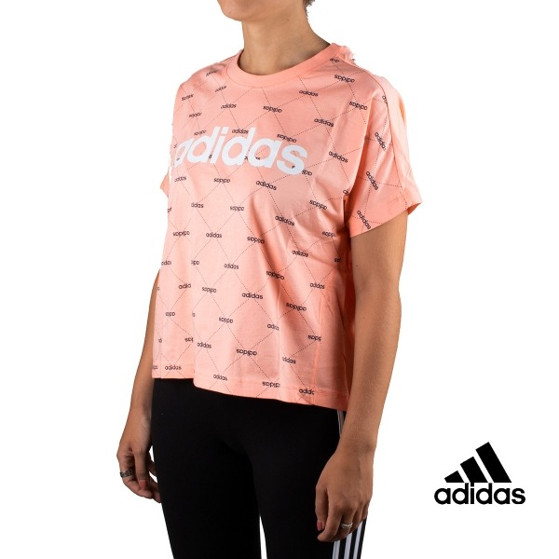 Adidas Camiseta W Core Fav T Coral Mujer