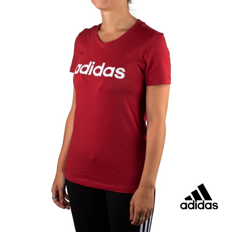 Adidas Camiseta W E Lin Slim T Granate Mujer