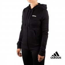Adidas Chaqueta Con Capucha Essentials Solid Full Zip Hoodie Negra Mujer
