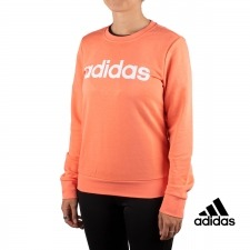 Adidas Sudadera Essentials Linear Crewneck Coral Mujer