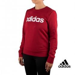 Adidas Sudadera Essentials Linear Crewneck Granate Mujer