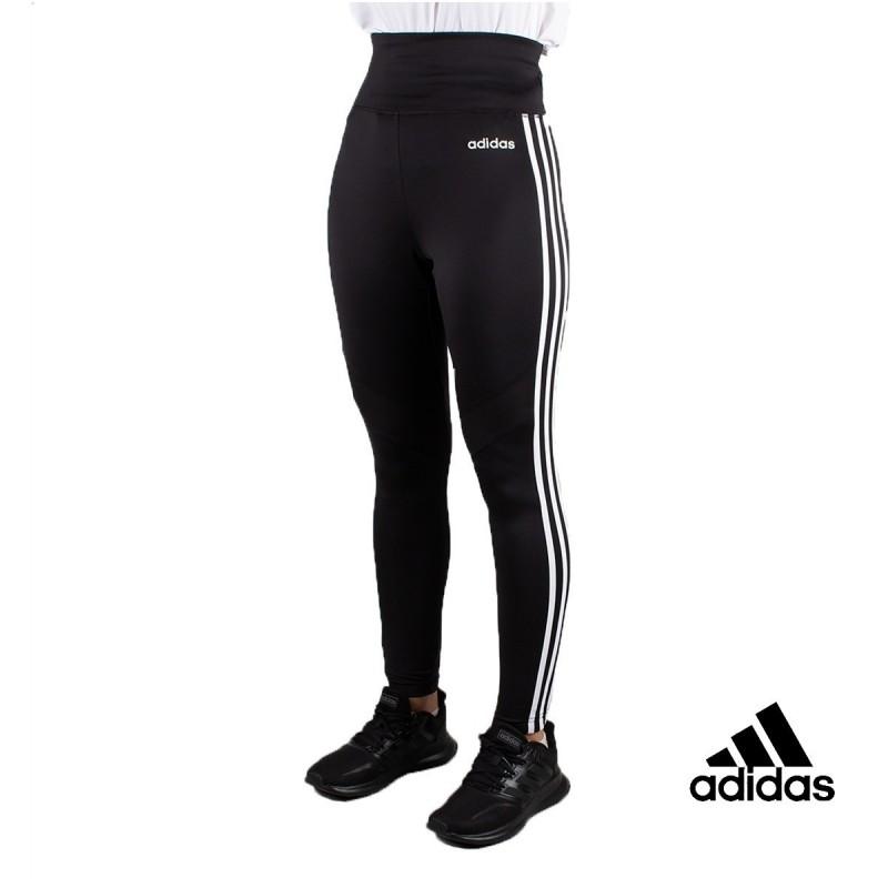 Adidas Mallas Largas W D2M 3S 7/8 TI Negras Rayas Blancas Mujer