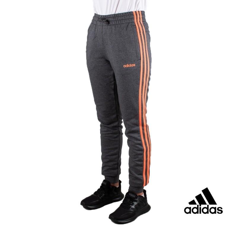 ADIDAS Pantalones W E 3S Gris Rayas Naranjas Mujer
