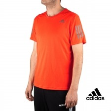 Adidas Camiseta Essentials 3 Stripes T-Shirt Naranja Reflectante Hombre
