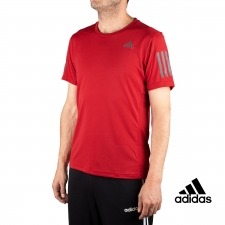 Adidas Camiseta Essentials 3 Stripes T-Shirt Granate Reflectante Hombre
