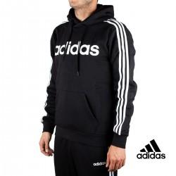 Adidas Sudadera Con Capucha E 3S PO FL Negra Hombre
