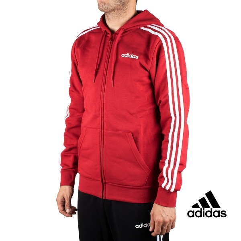 siempre popular más cerca de fábrica auténtica Adidas chaqueta E 3S FZ FL Granate Rayas Hombre