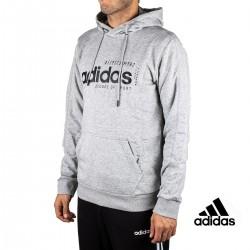 Adidas Sudadera Con Capucha M BB HDY Gris Letras Negras Hombre