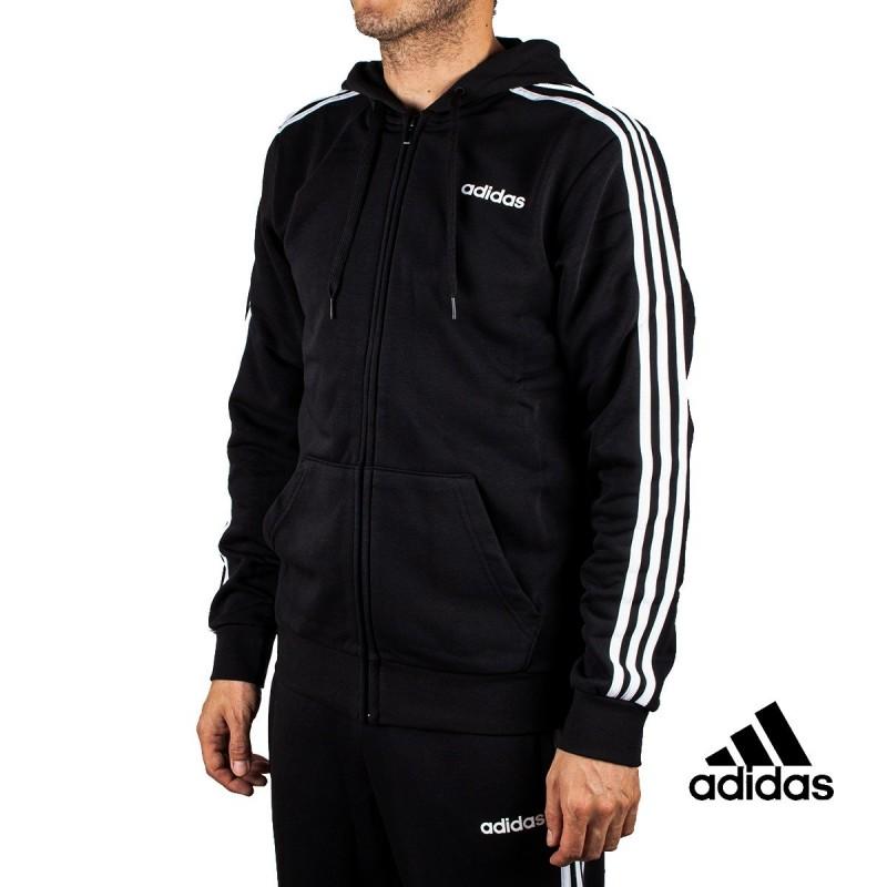 Evaluación Lírico interno  Adidas Chaqueta E 3S FZ FL Negra Rayas Hombre