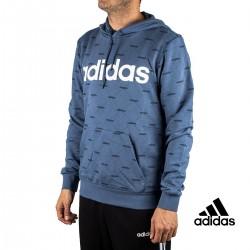 Adidas Sudadera Con Capucha Linear Graphic Azul Hombre