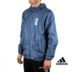 Adidas Chaqueta Running M BB WINDBR Azul Mujer