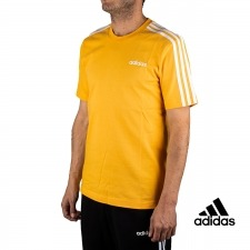 Adidas Camiseta Essentials 3 Stripes T-Shirt Amarilla Hombre
