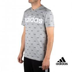 Adidas Camiseta Linear Graphic Gris Hombre