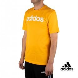 Adidas Camiseta Essentials Linear Logo Amarilla Hombre