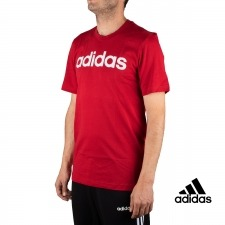 Adidas Camiseta Essentials Linear Logo Granate Hombre