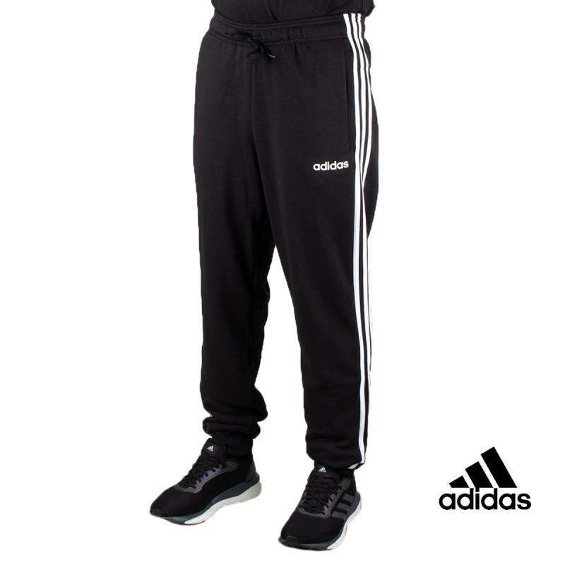 Adidas pantalón Essentials Tapered cuffed 3 Bandas Negro Hombre