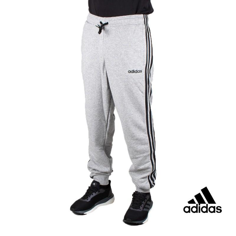Adidas pantalón Essentials Tapered cuffed 3 Bandas Gris Hombre