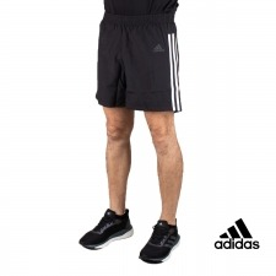 Adidas Pantalón corto RUN IT Negro Bandas Hombre