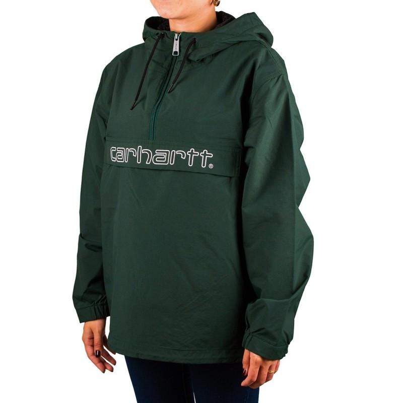 Carhartt Canguro Script Pullover Bottle Green Verde Mujer PV19