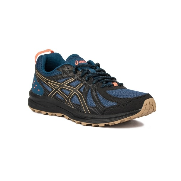 Asics Frequent Trail Black Birch Negro Gris Hombre