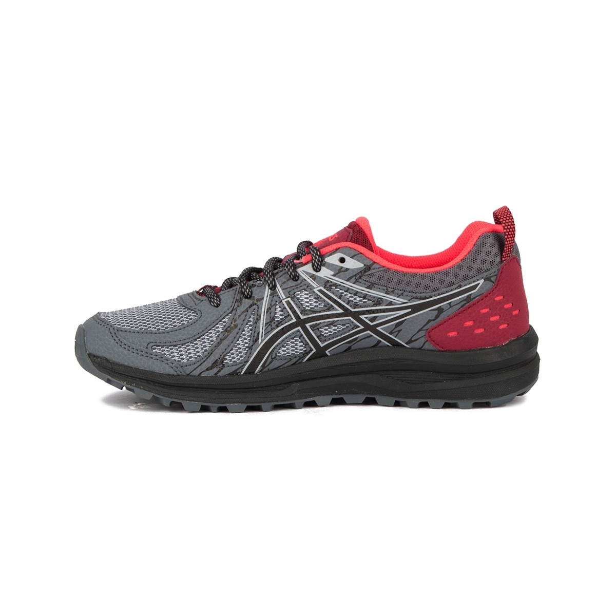 Asics Frequent Trail Piedmont Grey Black Gris Vino Mujer
