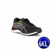 Asics Gel-Cumulus 21 GS Black White Negro Blanco Niño