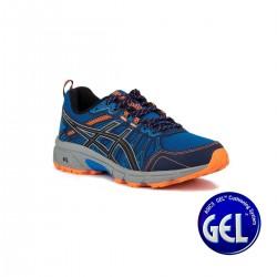 Asics Gel Venture 7 Electric Blue Sheet Rock Azul Eléctrico Naranja Hombre