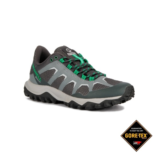 Merrell Zapatilla Fiery GTX Monument Verde Gris Mujer