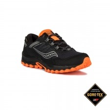 Saucony Grid Excursion 13 GTX Vesafoam Noir Black Orange Negro Naranja Hombre