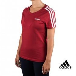 Adidas Camiseta Essentials 3 Bandas Granate Mujer